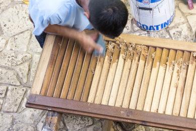 Συντήρηση – αποκατάσταση βαφών ξύλινων κουφωμάτων